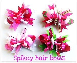 spikey hair bows